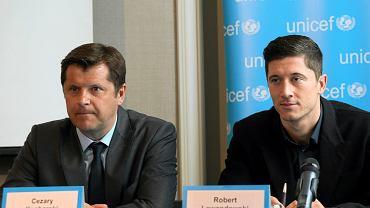 Cezary Kucharski i Robert Lewandowski. Warszawa, 3 marca 2014