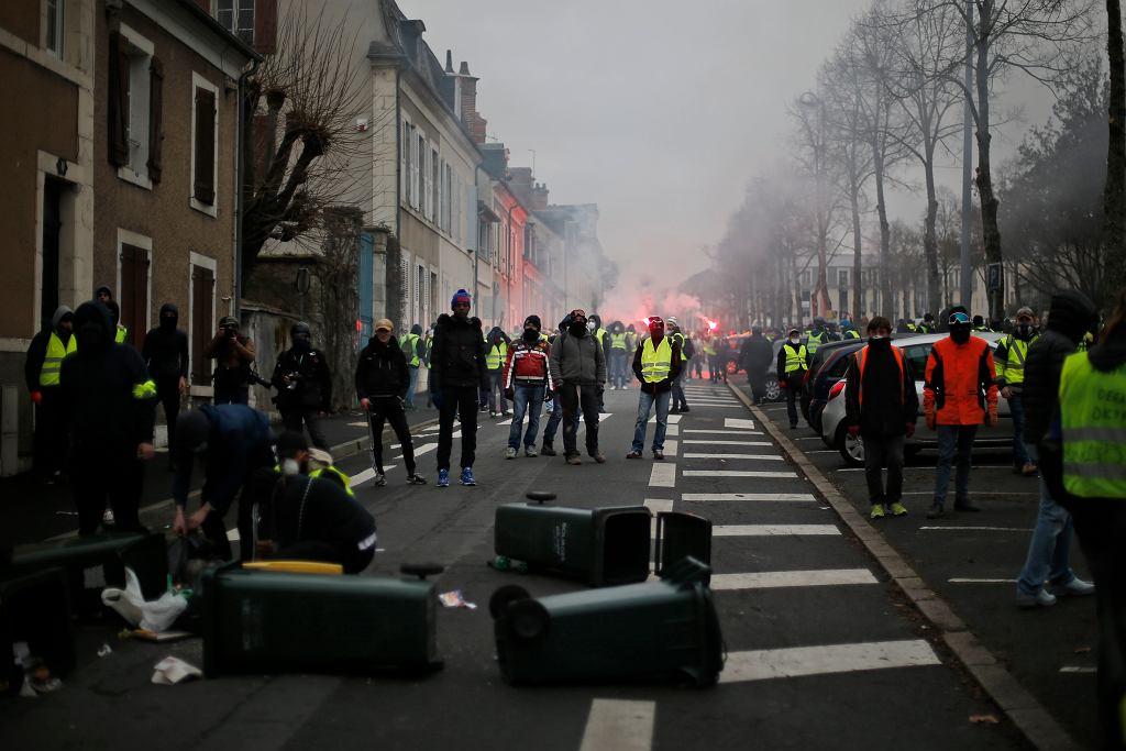 Protest żółtych kamizelek we Francji 12 stycznia