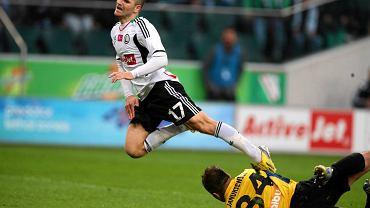 Tomasz Brzyski w meczu z Pogonią