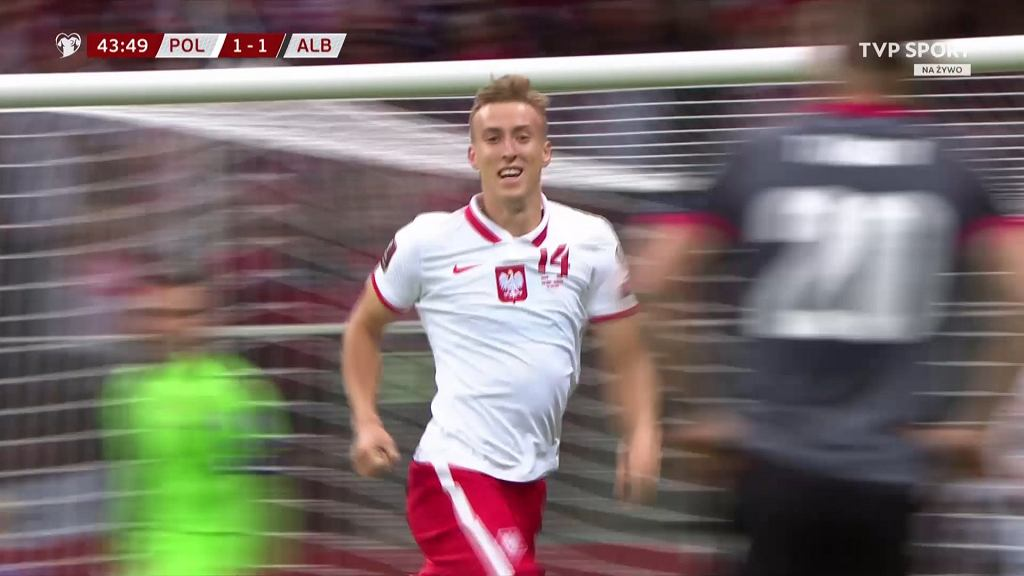 Gol Adama Buksy na 2:1 w meczu z Albanią