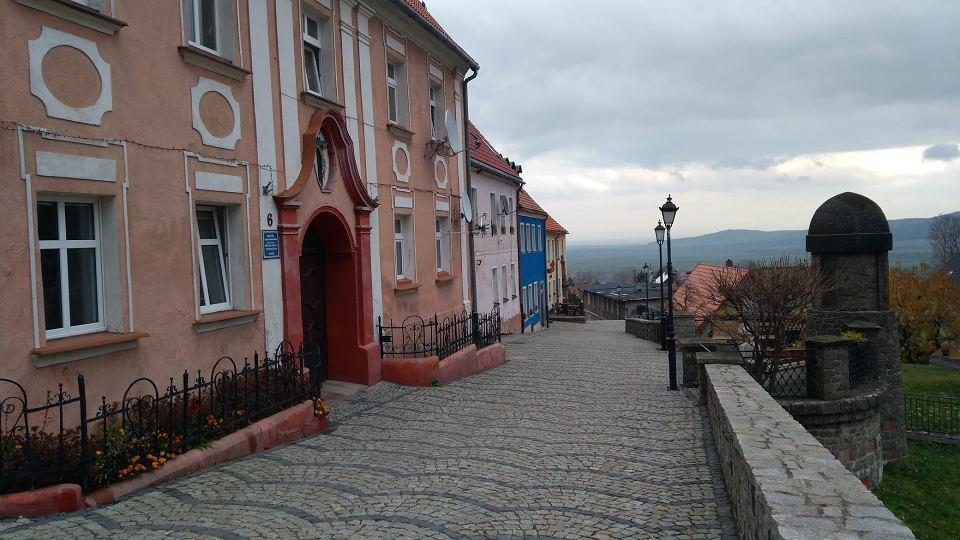 Widok z miejscowości Srebrna Góra
