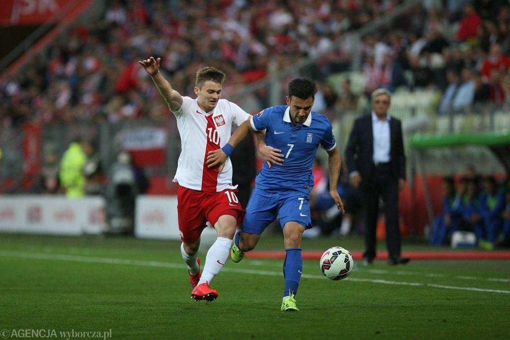 Polska - Grecja 0:0 na PGE Arenie Gdańsk. Na zdjęciu - Karol Linetty