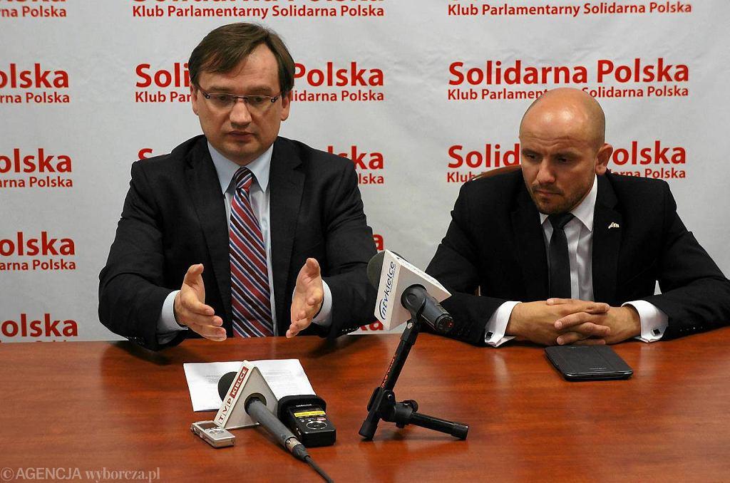 Zbigniew Ziobro i Mariusz Gosek