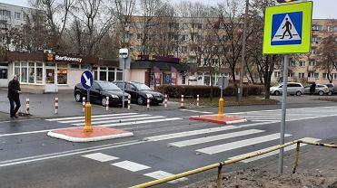 Przejście dla pieszych przy Rydygiera.