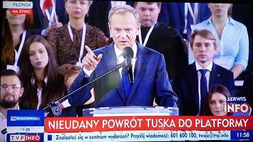 TVP Info o Donaldzie Tusku