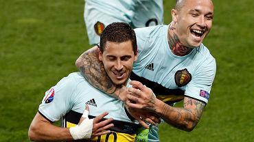 Belgowie pokonali Węgrów 4:0. Eden Hazard i Radja Nainggolan po zdobyciu 3. gola