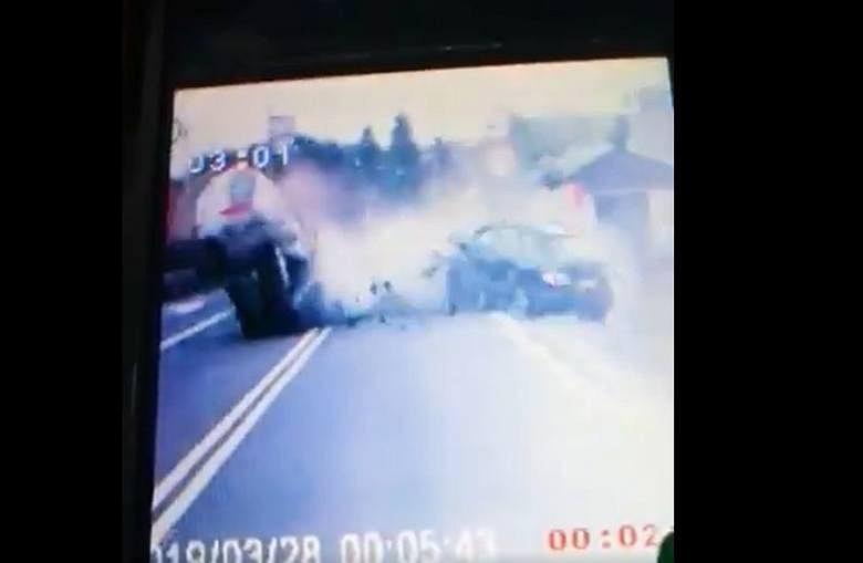 Wypadek pod Poznaniem, do którego doprowadził pijany kierowca.
