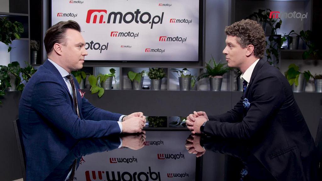Tomasz Korniejew i Michał Gąsiorowski w studiu Moto.pl