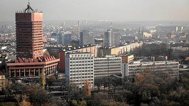 Poznań, widok na centrum miasta