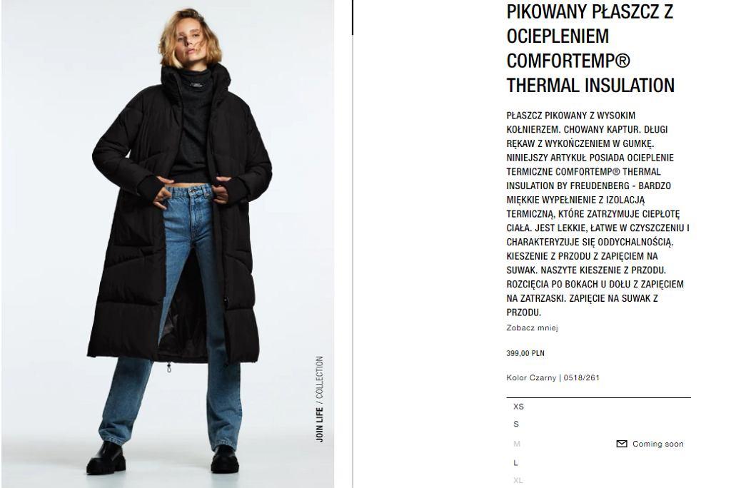 Płaszcz Zara