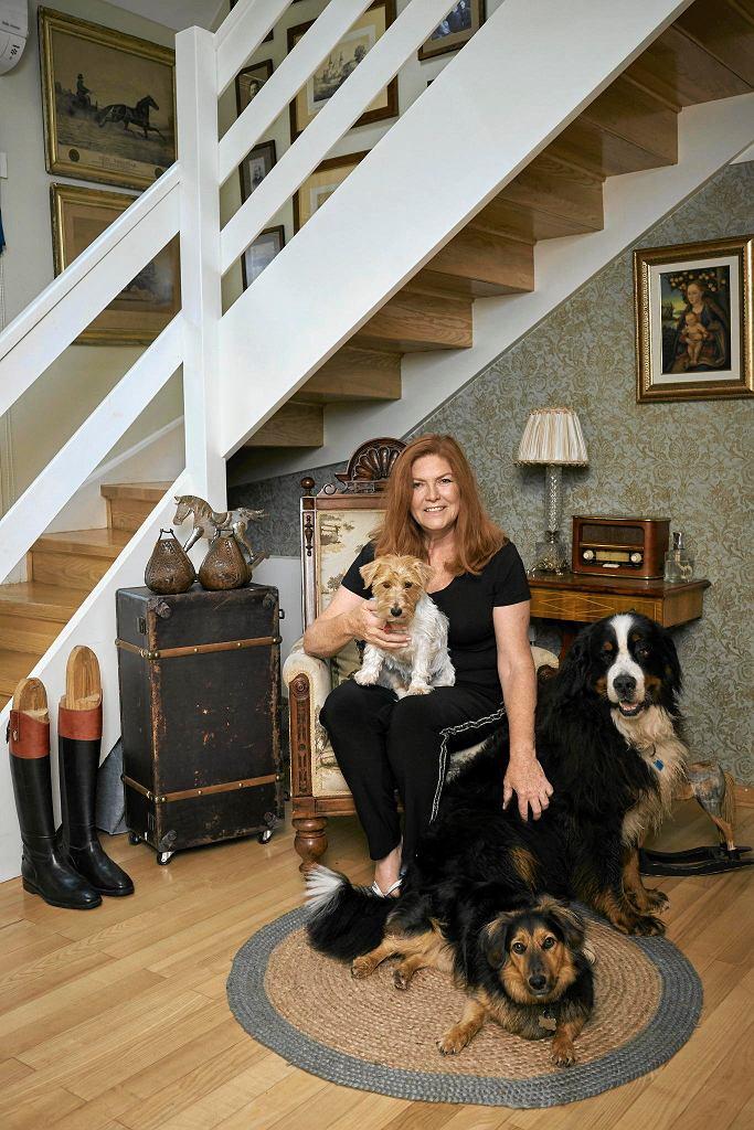 Katarzyna Dowbor z ukochanymi zwierzętami