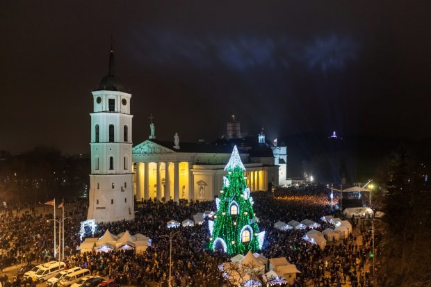 Bożonarodzeniowe miasteczko w Wilnie