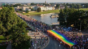 Marsz Równości w Krakowie 2021