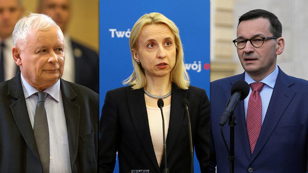 Jarosław Kaczyński, Teresa Czerwińska, Mateusz Morawiecki.