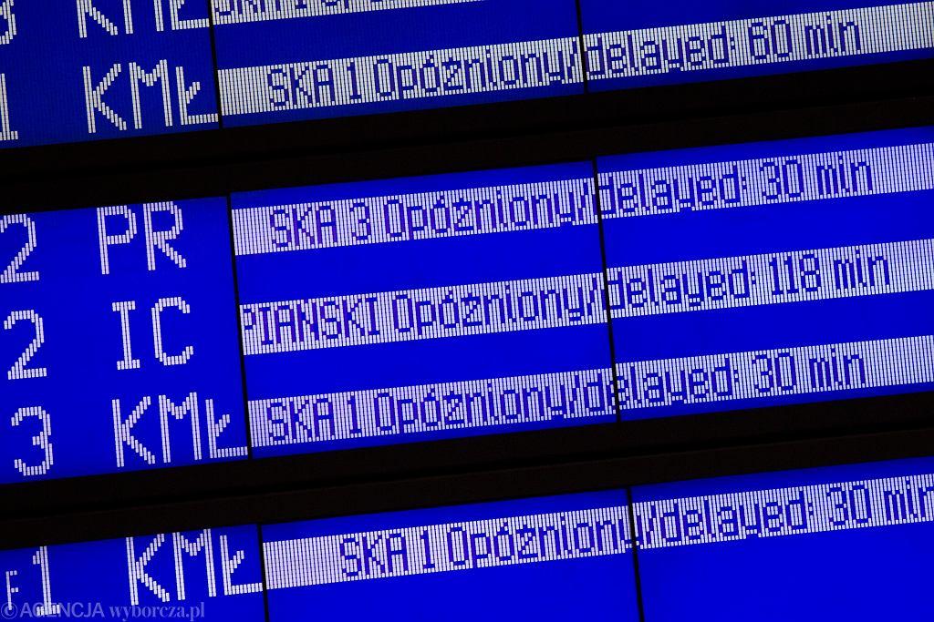 Opóźnienia pociągów (zdjęcie ilustracyjne)