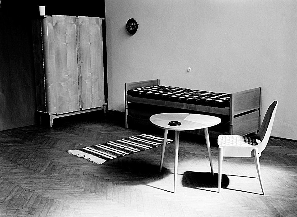 Aranżacja wnętrza mieszkania ZOR, 1954-56, projekt IWP