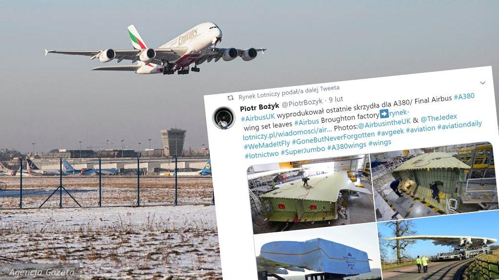 Ostatnia para skrzydeł samolotu A380 z brytyjskiej fabryki Airbusa zostaną zamontowane w maszynie linii Emirates