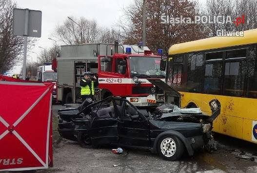Koszmarny wypadek w Gliwicach