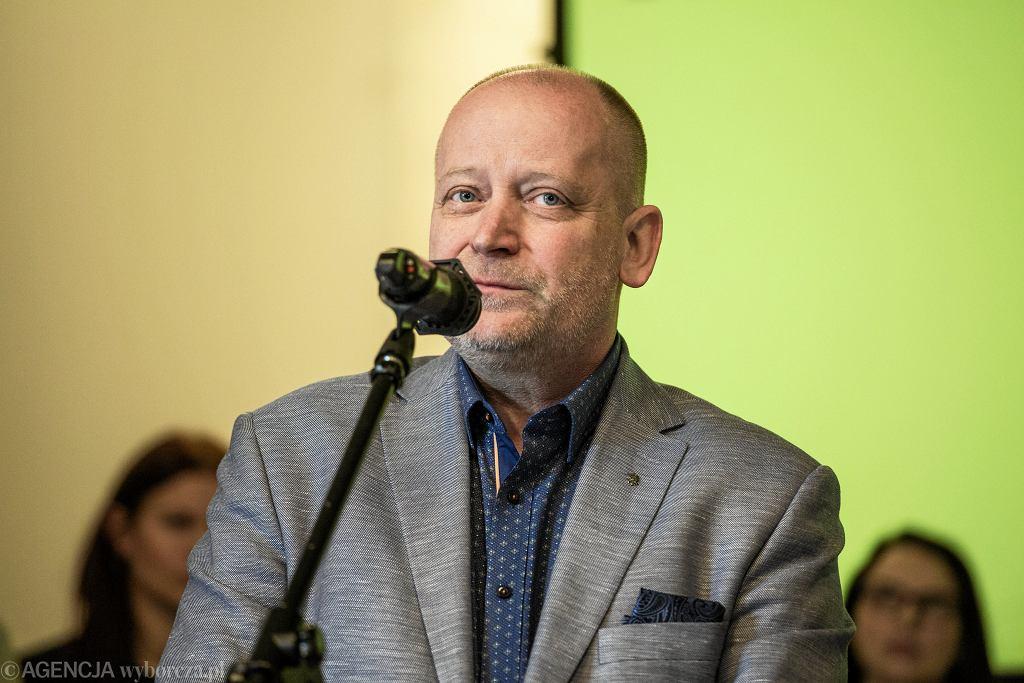 Sławomir Wittkowicz, przewodniczący Wolnego Związku Zawodowego 'Forum-Oświata'