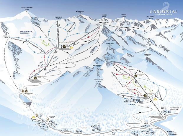 narty w austrii, kaunertal