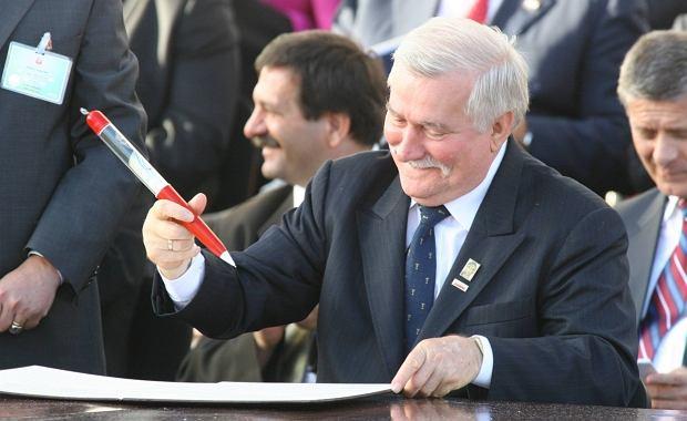 Lech Wałęsa podczas obchodów 25. rocznicy porozumień gdańskich