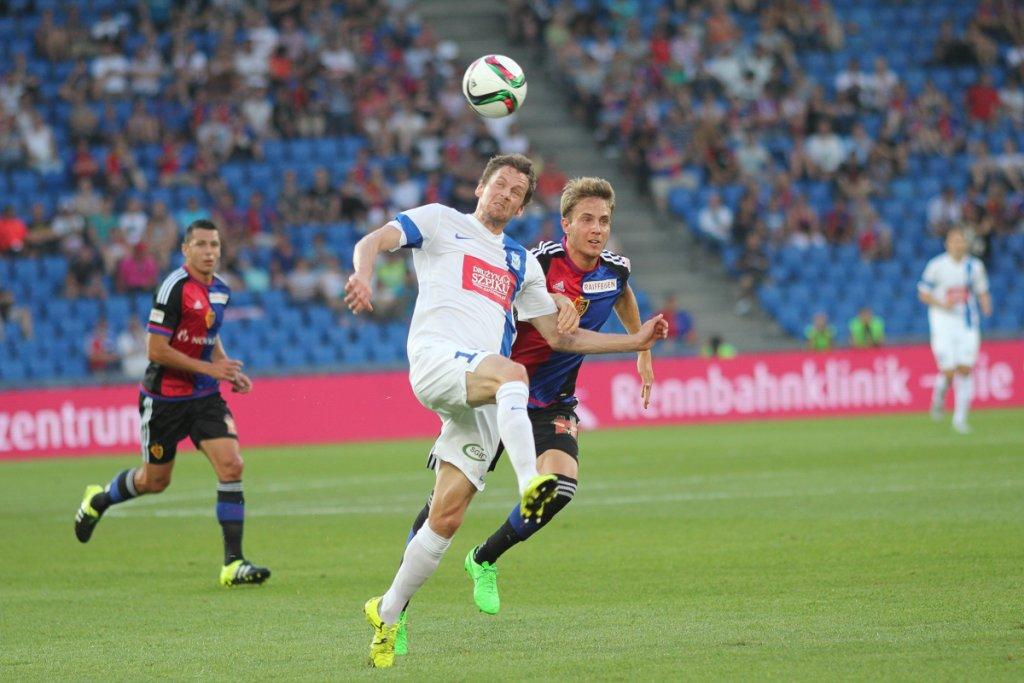 FC Basel - Lech Poznań 1:0 w III rundzie eliminacji do Ligi Mistrzów. Kasper Hamalainen