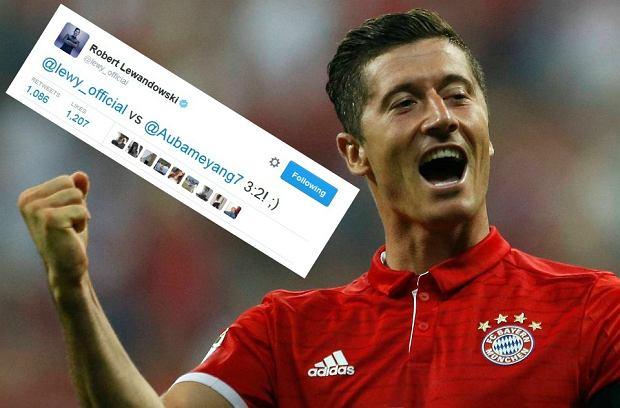 """Bundesliga. Lewandowski napisał do Aubameyanga: """"3:2!"""""""