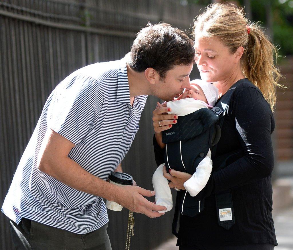 Jimmy Fallon z żoną i córką