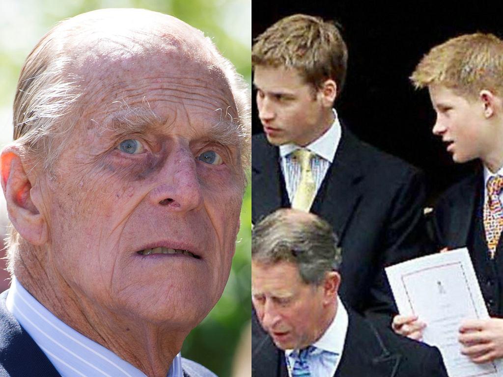 Książę Filip, książę William, książę Harry, książę Karol