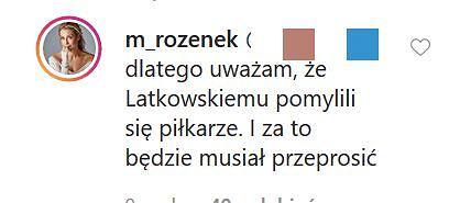 Małgorzata Rozenek broni Radosława Majdana