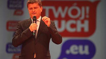 Janusz Palikot na kongresie założycielskim partii Twój Ruch