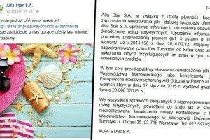 Upadłość biura Alfa Star. Do kraju wróciły 93 osoby, za granicą jeszcze 1,6 tys.