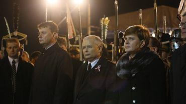 Mariusz Błaszczak, Jarosław Kaczyński i Beata Szydło