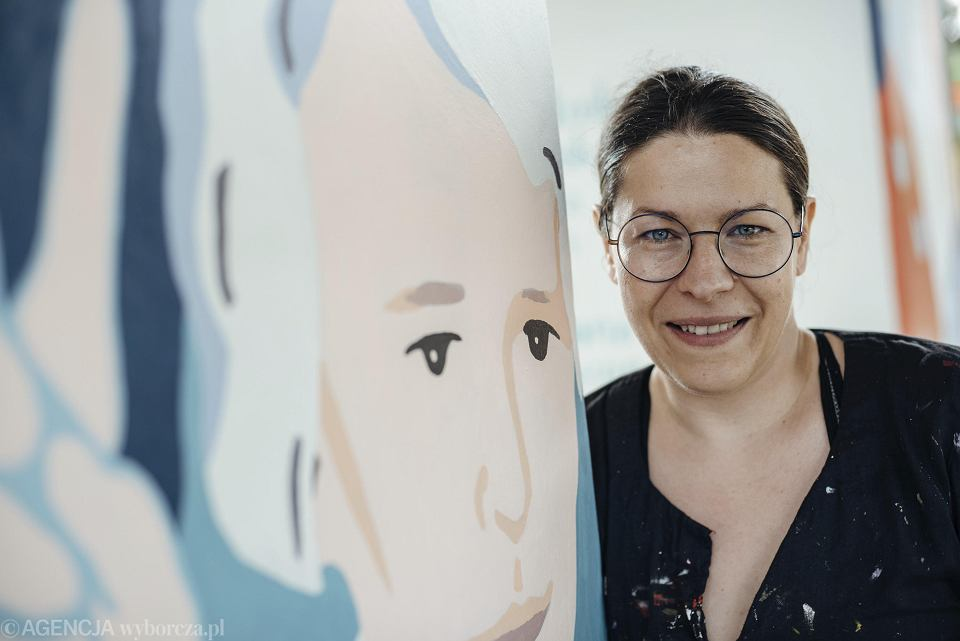 Anna Eichler, współautorka projektu muralu 'Kobiety Wolności'