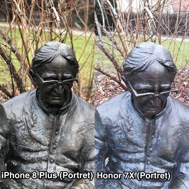 Honor 7X i iPhone 8 Plus - porównanie aparatów (tryb portretowy)