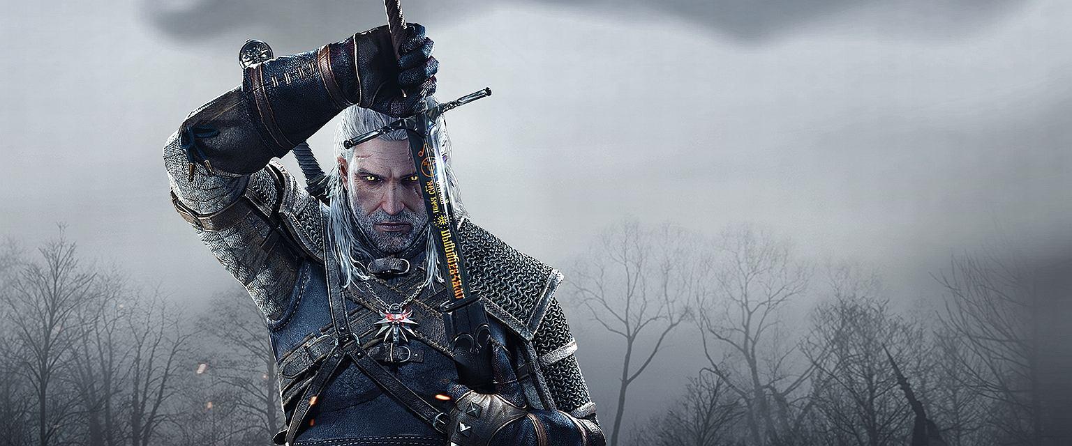 Wiedźmin Geralt, bohater książek A. Sapkowskiego, w grze 'Wiedźmin: Dziki Gon' (fot. CD Projekt RED)
