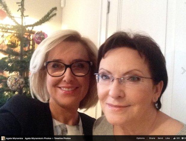 Agata Młynarska i Ewa Kopacz