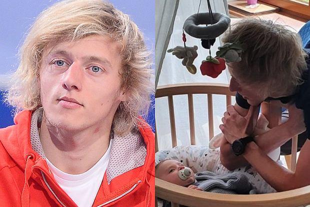 """Dawid Kubacki gościł studiu """"Dzień Dobry TVN"""". Skoczek opowiedział o ojcostwie. Poruszył też kwestię przykrtego wypadku, do którego doszło, gdy wykonywał prace domowe."""
