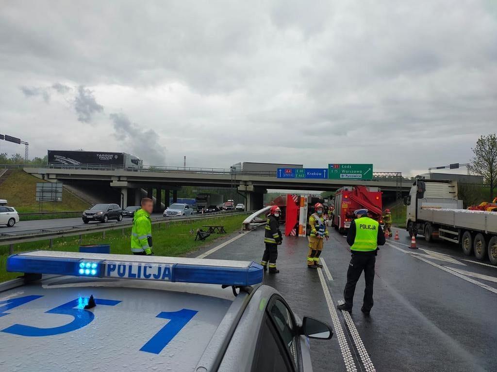 Wypadek na A4. Zdjęcie ilustracyjne