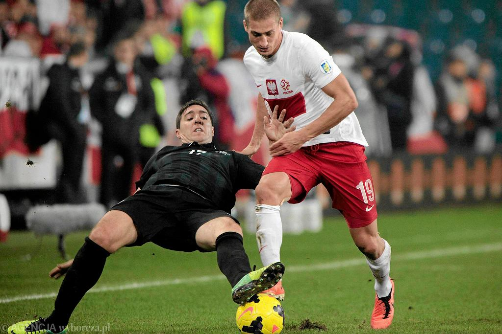 Piotr Celeban w meczu Polska - Irlandia