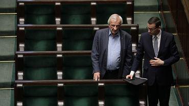 Wicemarszałek Sejmu Ryszard Terlecki i premier Mateusz Morawiecki