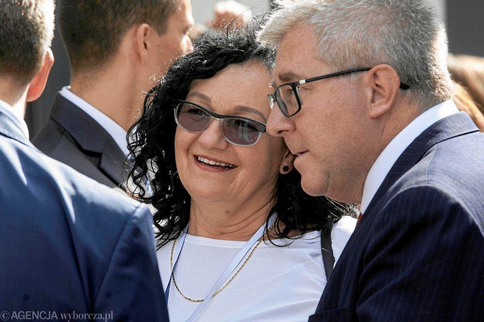 Anna Morawiecka z europosłem PiS Ryszardem Czarneckim