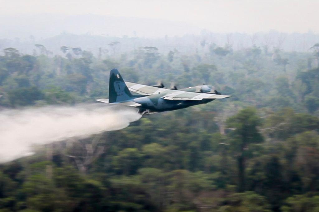 Brazylia. Wojsko pomaga gasić pożary w Amazonii.
