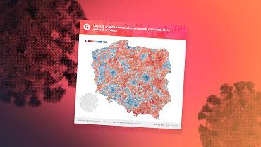 Jedna Polska, różna chęć do szczepień. Niektórzy doszukują się wręcz analogii politycznych [WYKRES DNIA]