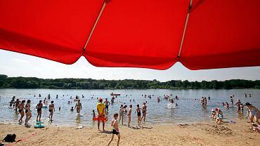 Upał i plaża nad Rusałką - 8 sierpnia 2020