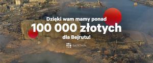 Dzięki czytelnikom Gazeta.pl zebraliśmy ponad 105 tysięcy zł dla potrzebujących w Bejrucie