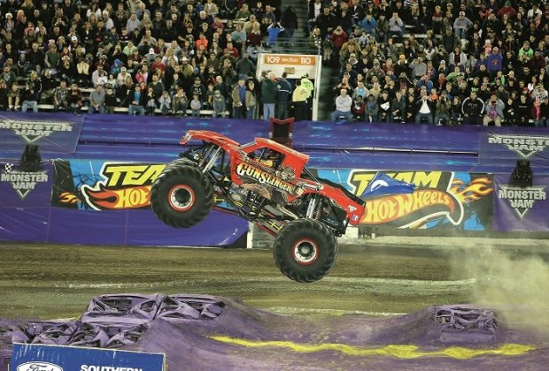 Monster Jam Big Truck na Florydzie, 2014 r., fot. AP Photo/Alex Menendez