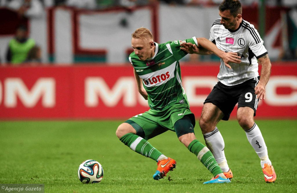 Legia - Lechia 1:0. Daniel Łukasik