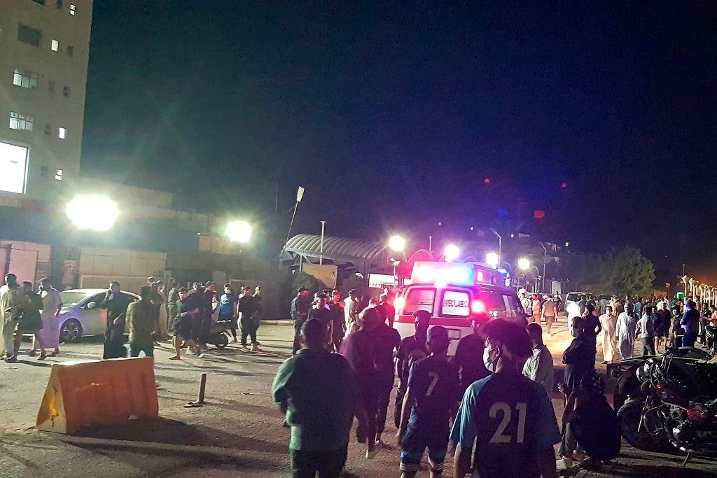 Irak. Pożar w szpitalu w Nasiriyah.