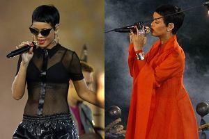 Rihanna podczas ceremonii zamknięcia Paraolimpiady 2012.